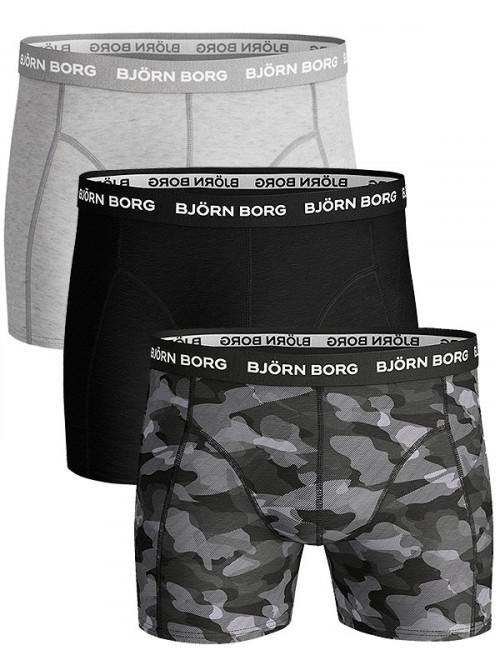 Herren Boxer Björn Borg Shadeline Essential 3-pack- grau, graue Armee, schwarz