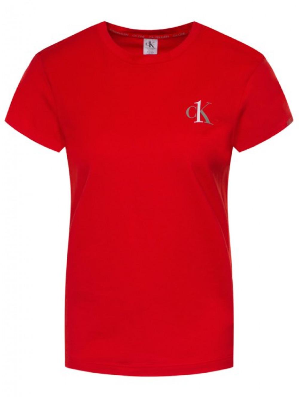 Damen T-Shirt Calvin Klein CK ONE SS Crew Neck Rot