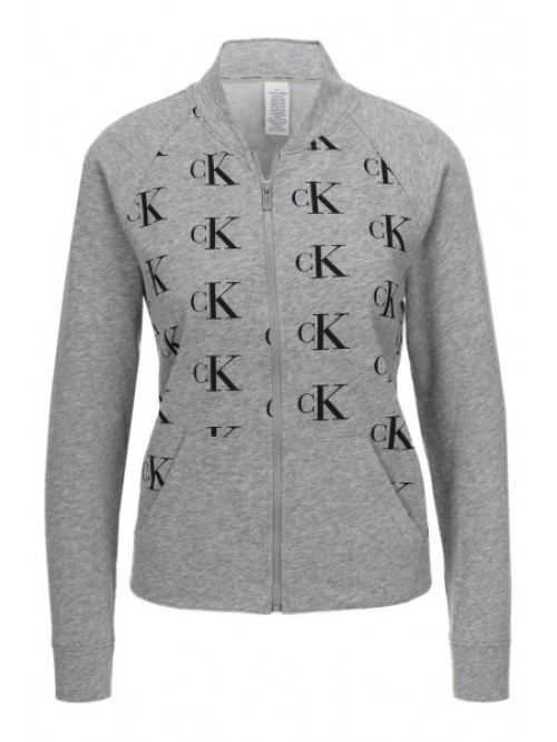 Damen Sweatshirt Calvin Klein Top Jacket Grau