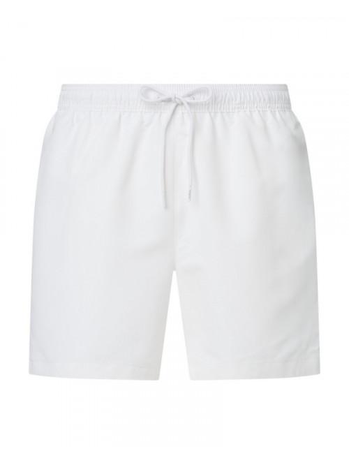 Herren Badeshorts Calvin Klein Medium Drawstring Weiß
