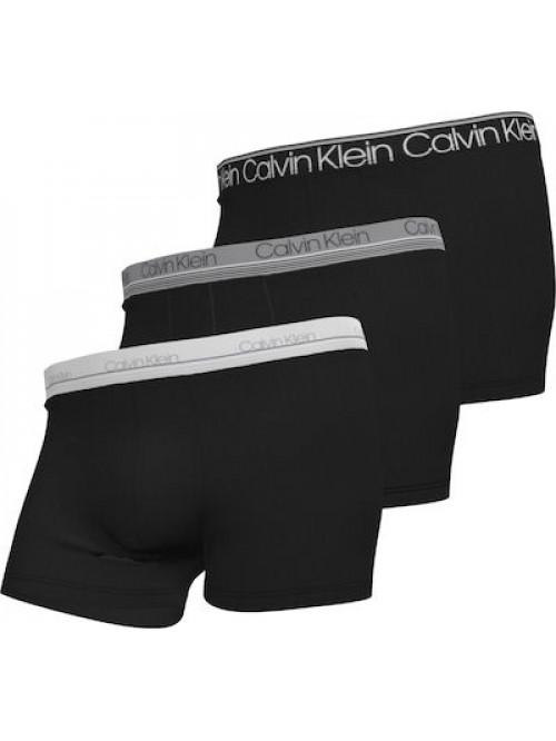 Herren Boxer Calvin Klein Cotton Stretch Trunk 3-pack Schwarz