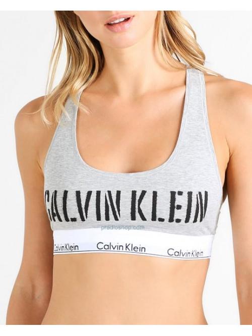 Damen Sport-BH Calvin Klein Bralette Unlined Grau