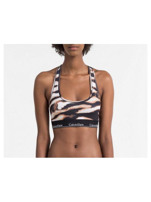 Damen Sport-BH Calvin Klein Modern Cotton Bralette Tigermuster
