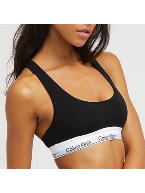 Damen Sport-BH Calvin Klein Cotton Bralette schwarz