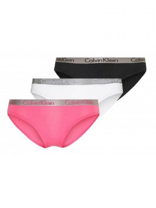 Damen Höschen Calvin Klein Radiant Cotton Schwarz, Weiß, Rosarot 3-Pack