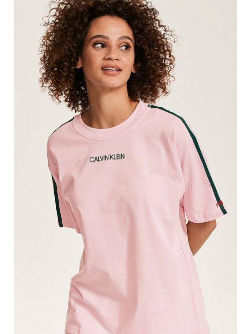 Damen T-Shirt Calvin Klein SS Crew Neck hell-rosa