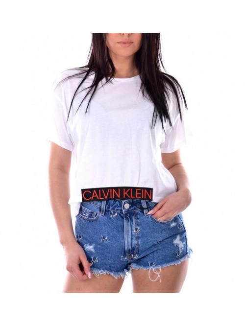 Damen T-Shirt Calvin Klein Cropped Tee weiß