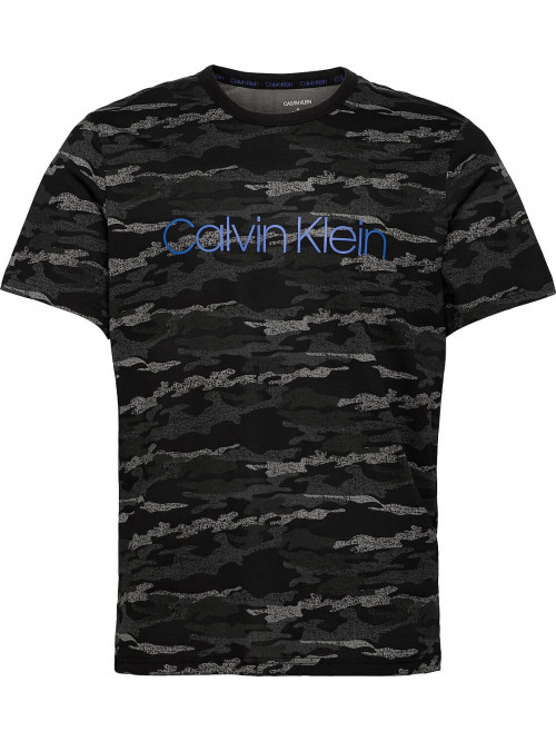 Herren T-Shirt Calvin Klein SS Crew Neck Schwarz mit Tarnmuster