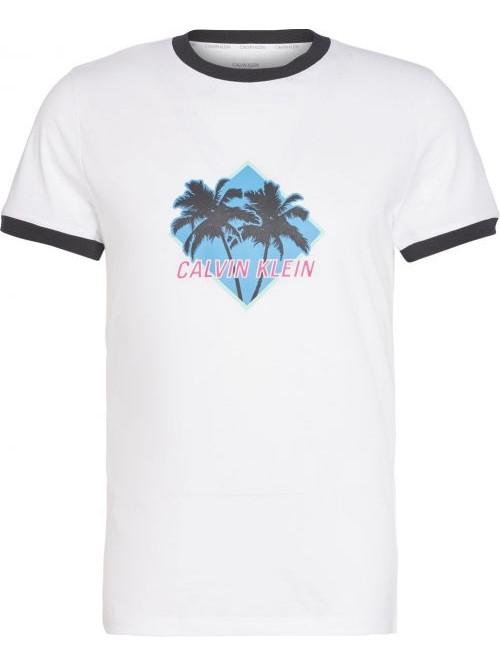 Herren T-Shirt Calvin Klein Relaxed Retro Weiß