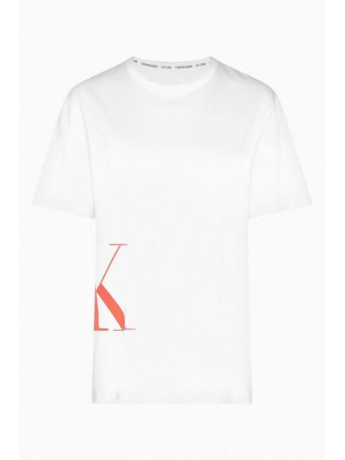 Herren T-Shirt Calvin Klein SS Crew Neck Logo Weiß