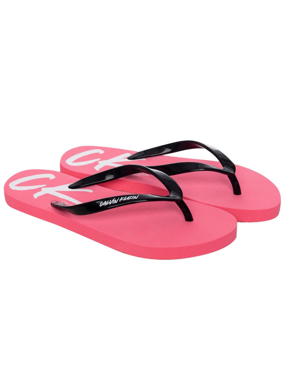 Damen Flip-Flops Calvin Klein Wave Rosa-Schwarz