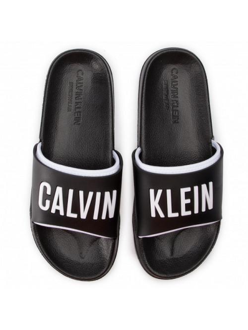 Herren Pantoffeln Calvin Klein Slide Schwarz-Weiß