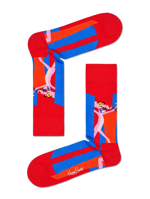 Socken Happy Socks Pink Panther Smile Pretty, Say Pink Rot-Blau