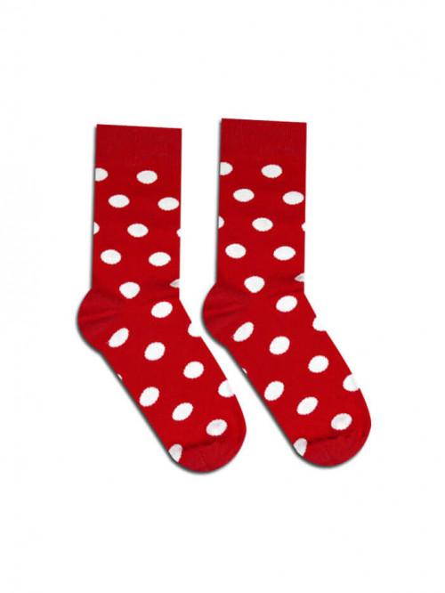 Socken Kakaopunkte - Rot