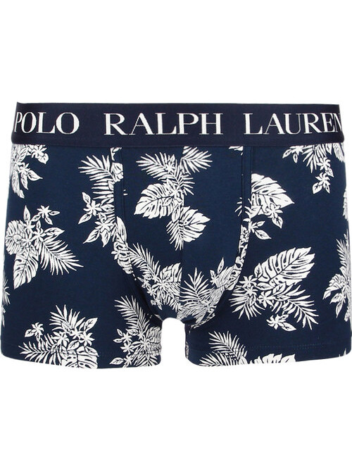Herren Boxershorts Polo Ralph Lauren Classic Print Trunk Stretch Cotton Tropical Dunkelblau