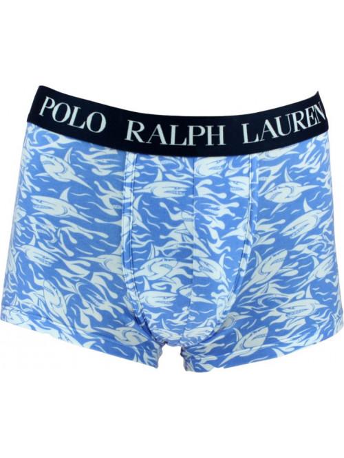Herren Boxershorts Polo Ralph Lauren Shark Print Classic Trunk Blau