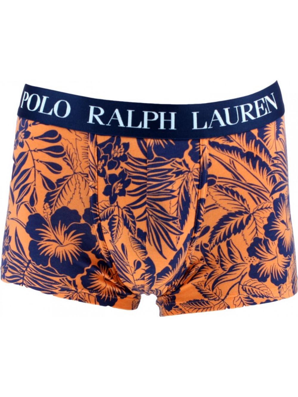 Herren Boxer Polo Ralph Lauren Classic Trunk Tropical Print Sun Orange