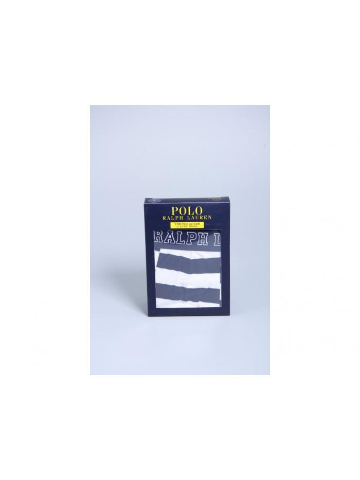 Herren Boxer Polo Ralph Lauren Cruise White / Cruise Navy Rugby Stripe Weiß-Blau