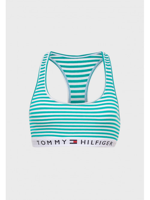 Damen-BH Tommy Hilfiger Logo Band Racerback Striped Gestreift