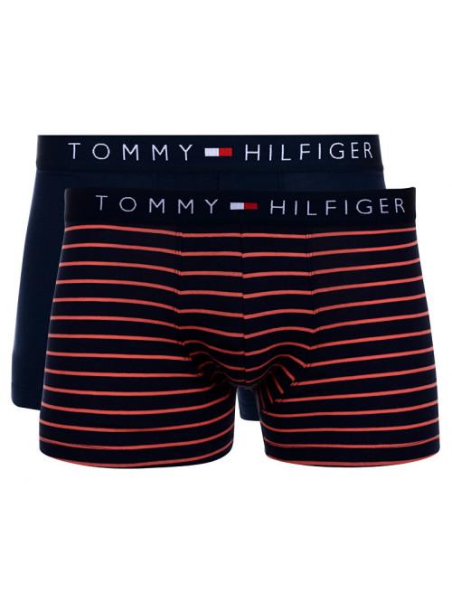 Herren Boxershorts Tommy Hilfiger Trunk Mini Stripe 2-pack Navy, Streifen