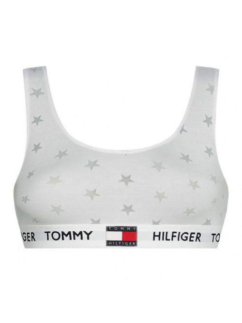 Damen BH Tommy Hilfiger Star Burnout Bralette Weiß