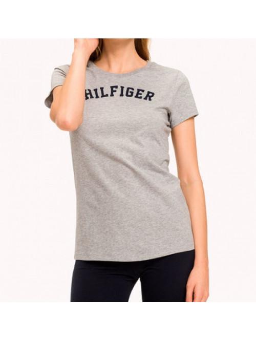 Damen T-Shirt Tommy Hilfiger SS TEE PRINT Grau