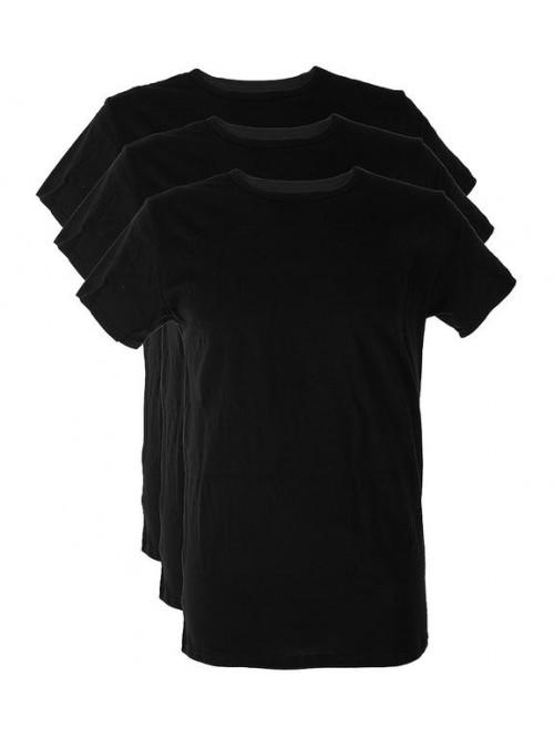 Herren T-Shirts Tommy Hilfiger C-Neck Tee SS Schwarz 3-pack