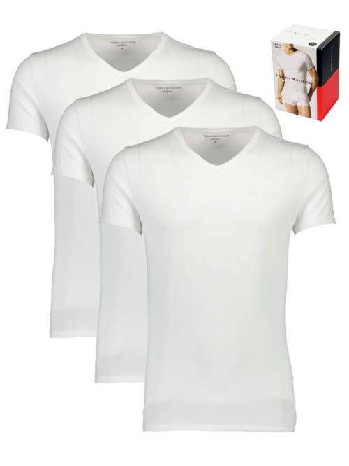 Herren T-Shirts Tommy Hilfiger V-Neck Tee SS Weiß 3-pack
