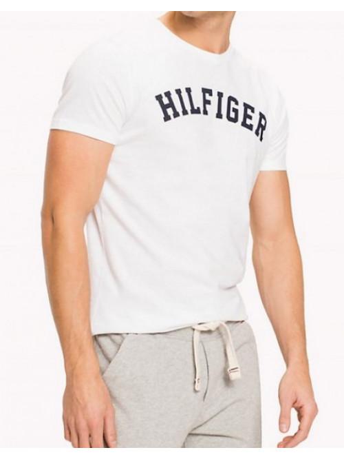 Herren T-Shirt Tommy Hilfiger SS TEE LOGO Weiß