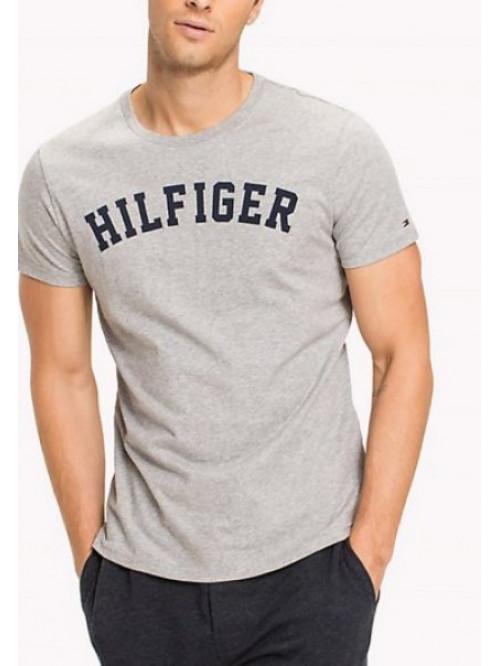 Herren T-Shirt Tommy Hilfiger SS TEE LOGO Grau