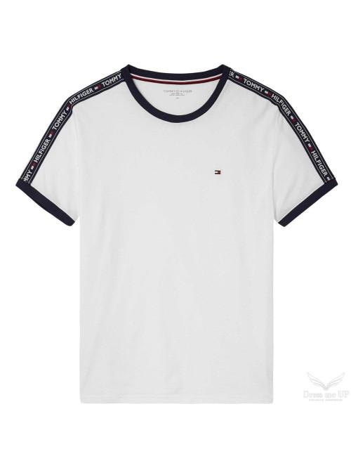 Herren T-Shirt Tommy Hilfiger RN TEE SS Weiß