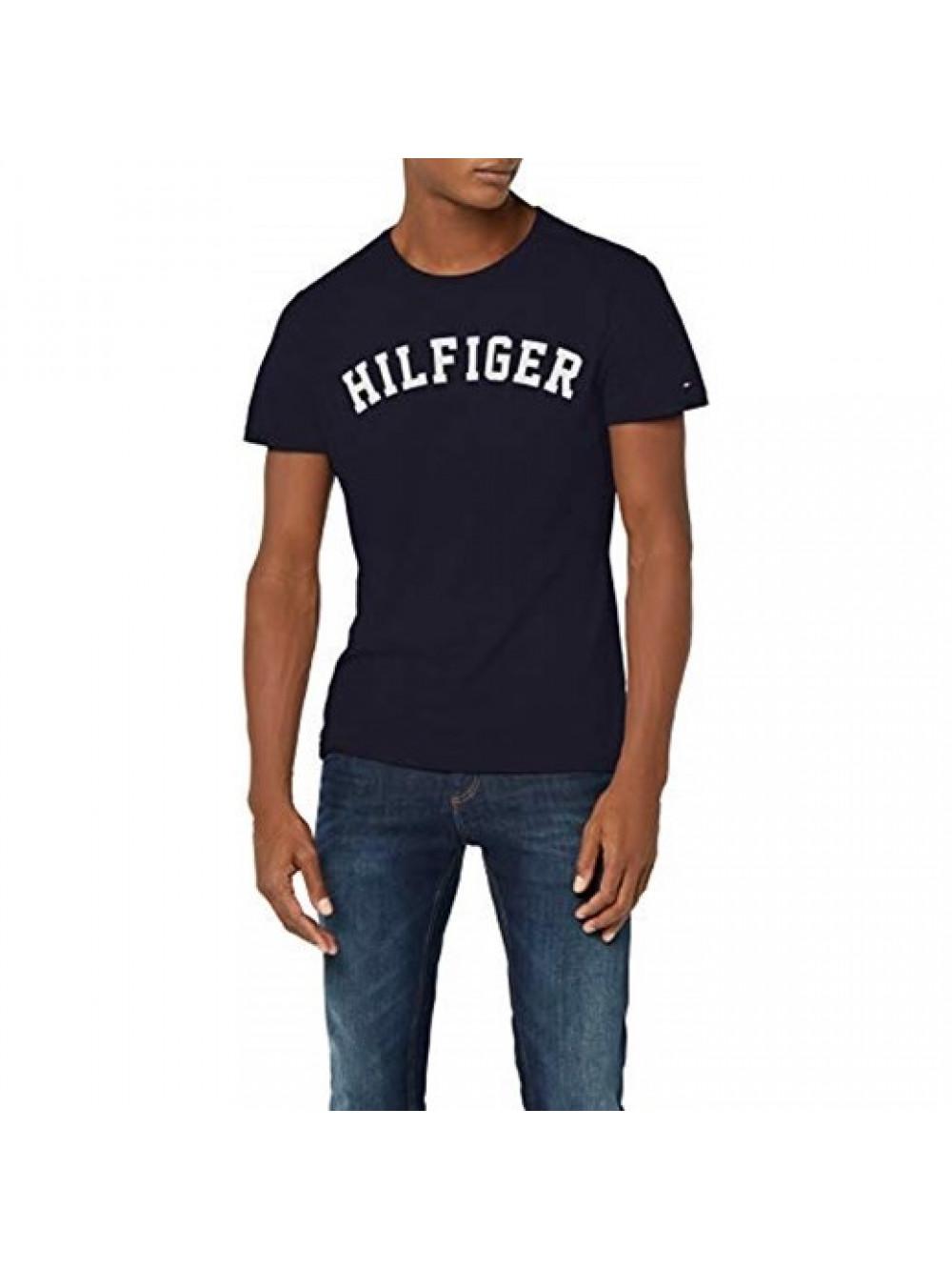 new arrival 0a1f3 5487a Herren T-Shirt Tommy Hilfiger SS TEE LOGO Navy