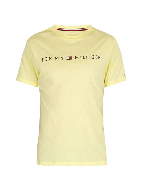 Herren T-Shirt Tommy Hilfiger Crew Neck Tee Logo Gelb