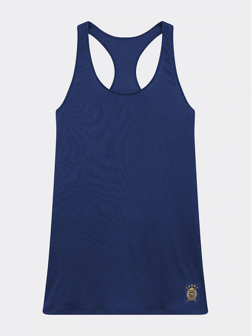 Damen Tanktop Tommy Hilfiger Cool Logo Racerback Vest Marineblau