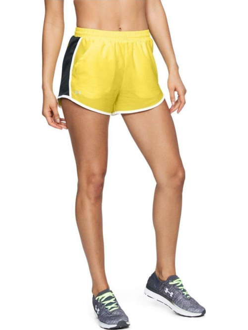 Damen Shorts Under Armour Fly By Gelb