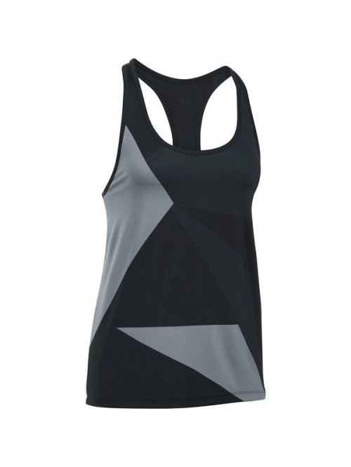Damen Unterhemd Under Armour Geo Run Tank schwarz