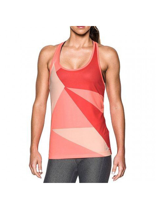 Damen Unterhemd Under Armour Geo Run Tank Orange