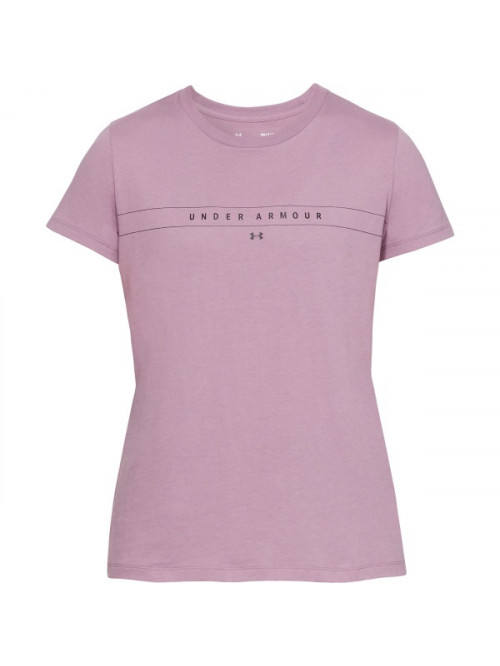Damen T-Shirt Under Armour Classic Crew Rosarot