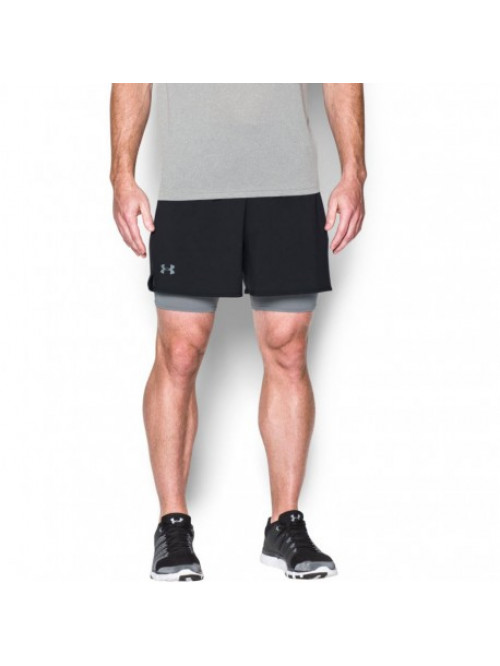 Herren Shorts Under Armour 2 v 1 schwarz