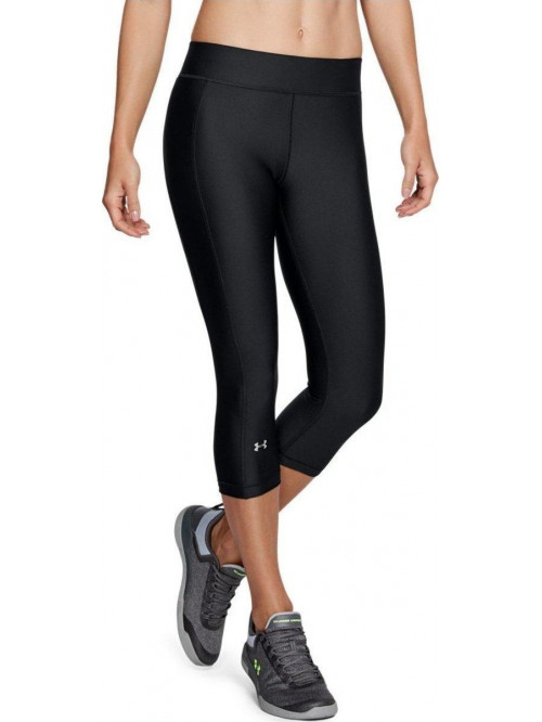 Damen kompression 3/4 Leggings Under Armour HeatGear schwarz