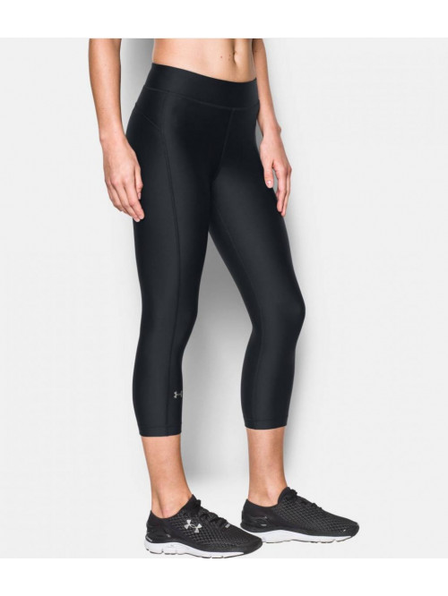 Damen kompression 3/4 Leggings Under Armour HG Capri schwarz