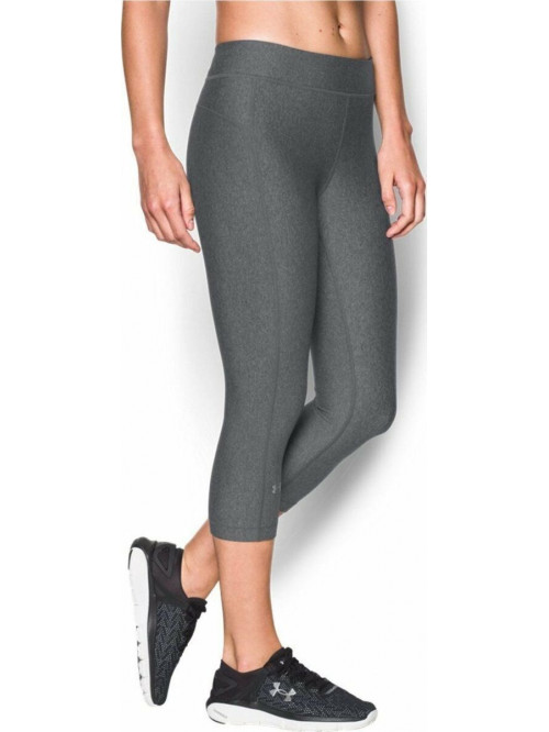 Damen kompression 3/4 Leggings Under Armour HG Capri grau