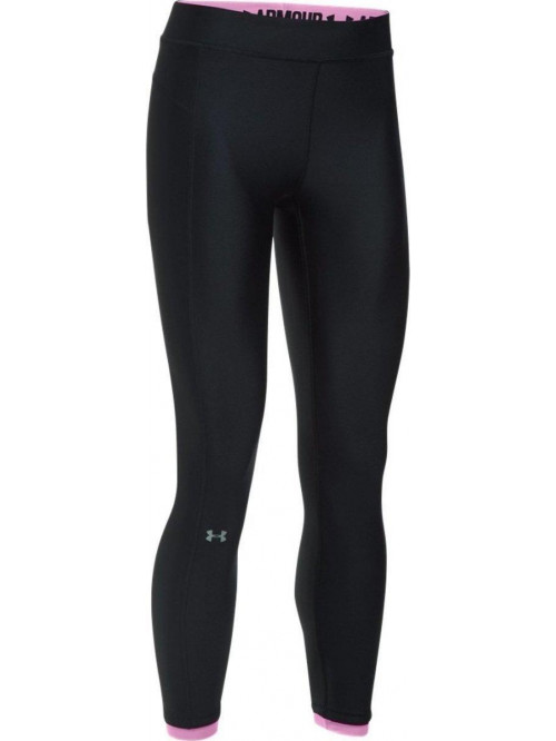 Damen kompression 3/4 Leggings Under Armour Ankle Crop schwarz