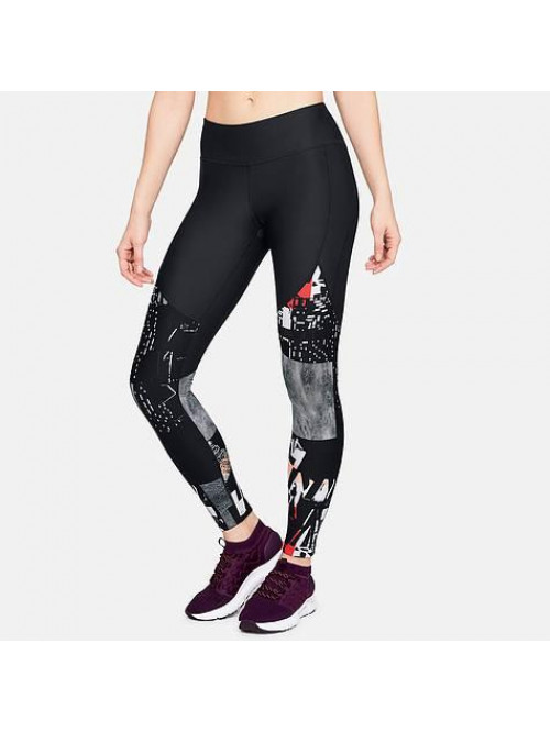 Damen Leggings Under Armour Vanish Printed schwarz