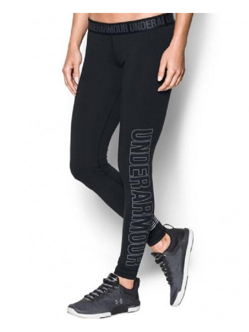 Damen Leggings Under Armour Favourite Graphic schwarz