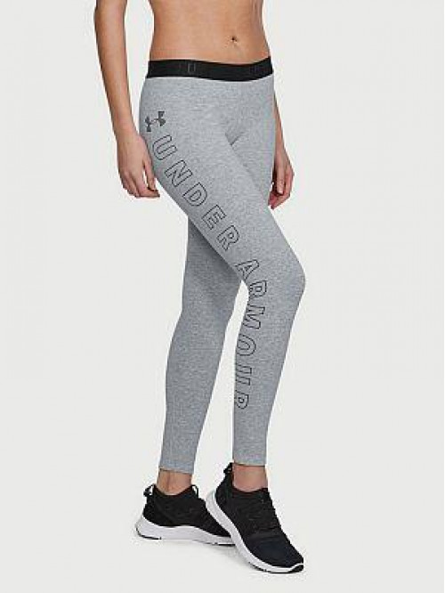 Damen Leggings Under Armour Graphic grau