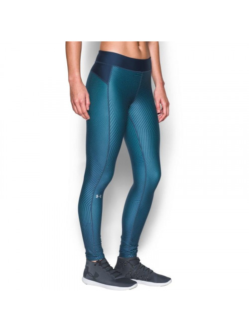 Damen kompression Leggings Under Armour HG Printed blau