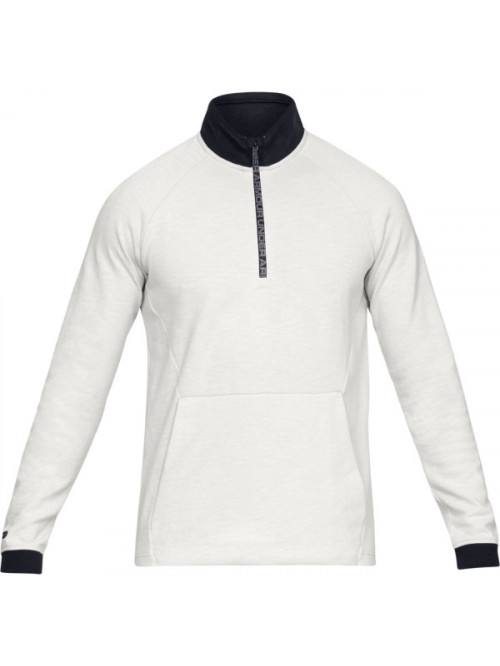 Herren Sweatshirt Under Armour Unstoppable 2X KNIT 1/2 ZIP Weiß