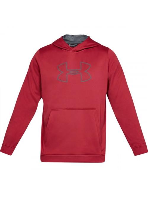Herren Sweatshirt Under Armour Performance Fleece Graphic Hoody Rot