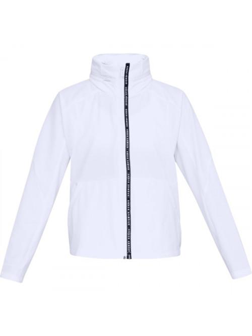 Damen Jacke Under Armour Unstoppable Woven FZ Weiß